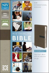 NIV Thinline Bible Compact Dark Taupe/Graphite (Red Letter Edition)