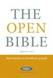 NKJV the Open Bible (Red Letter Edition)