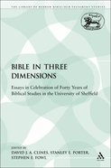 Bible in Three Dimensions (Library Of Hebrew Bible/old Testament Studies Series)