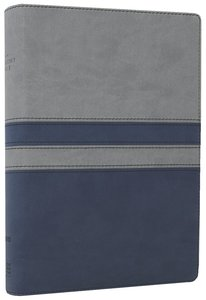 NIV Student Bible Gray/Slate Blue Italian Duo-Tone (Red Letter Edition)