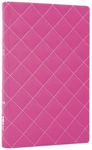 NIV Thinline Bible Quilted Strawberry Cream Duo-Tone (Red Letter Edition)