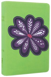NIV Backpack Bible Purple Blossom (Red Letter Edition)