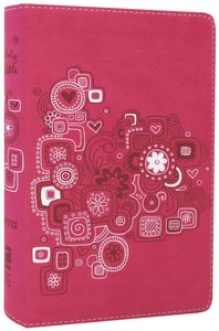 NIV Backpack Bible Raspberry Duo-Tone (Red Letter Edition)
