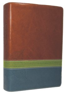NLT Chronological Life Application Study Bible Tutone Brown/Green/Teal (Black Letter Edition)