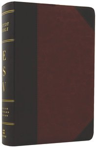 ESV Study Bible Personal Size Trutone Brown/Cordovan Portfolio Design (Black Letter Edition)