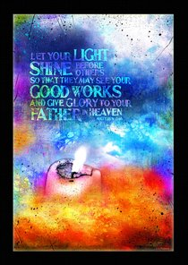 Poster Large: Let Your Light Shine Before Others