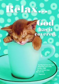 Poster Large: Relax God Has It Covered