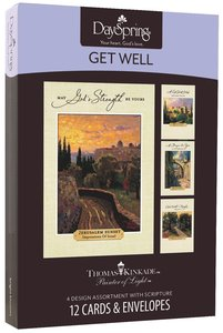 """Boxed Cards Get Well: Thomas Kinkade - """"Painter of Light"""""""