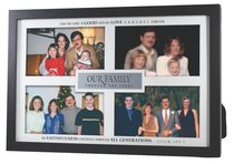Photo Frame: Our Family, Psalm 100:5, Holds 4 Photos