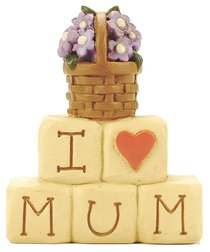 Blossom Bucket: I Love Mum Block