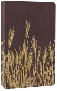 NIV Thinline Bible Flora and Fauna Burgundy Gold/Wheat (Red Letter Edition)