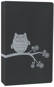 NIV Thinline Bible Flora and Fauna Black/Silver Owl (Red Letter Edition)
