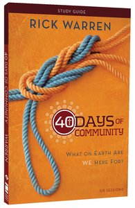 40 Days of Community (Study Guide)