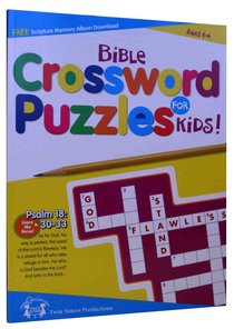 Bible Crossword Puzzles For Kids (Reproducible)