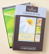 Boxed Cards Thinking of You: Bright Thoughts