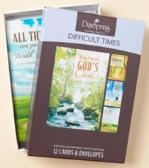 Boxed Cards Difficult Times: Gods Care
