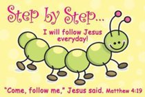 Poster Small: Step By Step I Will Follow Jesus Everyday