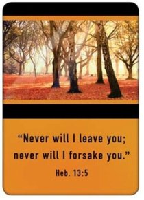 Friendship Magnet: Never Will I Leave You, Hebrews 13: