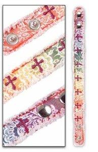Canvas Bracelet: Rainbow & Crosses