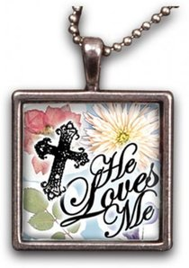Necklace: He Loves Me (Resin)