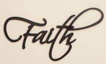 Word Plaque: Faith, Black, Mdf