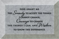Artison Glass Plaque: God Grant Me the Serenity