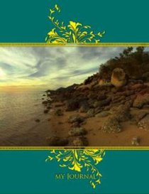 Hard Cover Large Journal: Rocky Beach