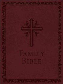 NKJV Family Bible Burgundy Leathersoft