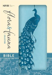 NIV Compact Thinline Bible Flora and Fauna Turquoise Teal (Red Letter Edition)