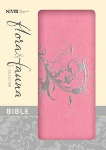 NIV Compact Thinline Bible Flora and Fauna Orchid Silver (Red Letter Edition)