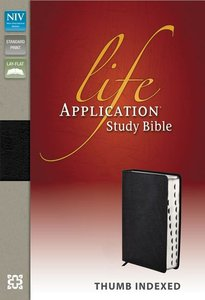 NIV Life Application Study Black Thumb Indexed (Red Letter Edition)