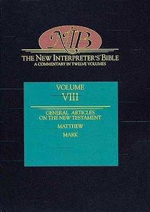 Matthew-Mark (#08 in New Interpreters Bible Series)