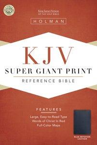 KJV Super Giant Print Reference Blue (Red Letter Edition)