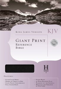 KJV Cornerstone Giant Print Reference Black Indexed (Red Letter Edition)