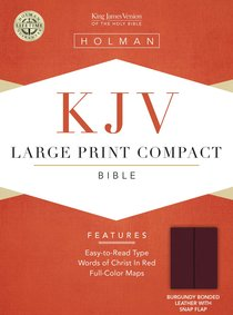 KJV Cornerstone Large Print Compact Burgundy Flap (Red Letter Edition)