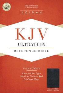 KJV Ultrathin Reference Bible Black Indexed