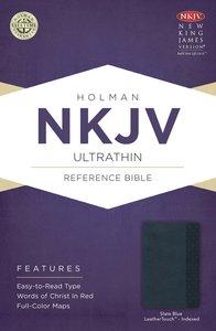 NKJV Ultrathin Reference Indexed Bible Slate Blue