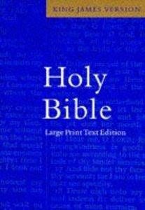 KJV Large Print Text Blue