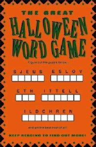 Halloween Word Game (25 Pack)