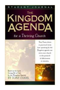 Thriving Church (Students Guide) (Kingdom Agenda Bible Study Series)