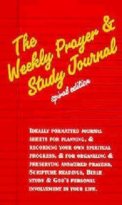Weekly Prayer and Study Journal