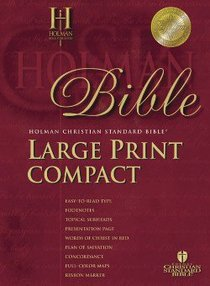 HCSB Compact Black (Red Letter Edition) (Large Print)