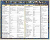 Wall Chart: 100 Prophecies Fulfilled By Jesus (Laminated)