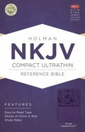 NKJV Compact Ultrathin Reference Bible Purple Leathertouch