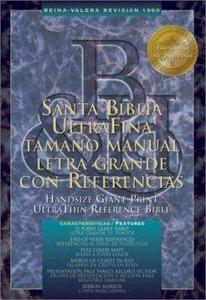 Nueva Biblia Rvr Lutrafina Tamano Manual Con Referencias Letra Grande Negro (Rvr Handsize Giant Print Ultrathin Reference Black)