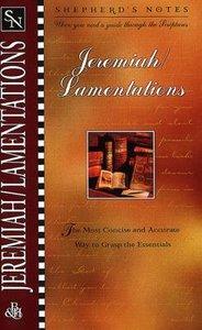 Jeremiah/Lamentations (Shepherds Notes Series)