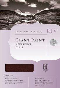 KJV Cornerstone Giant Print Reference Burgundy Bible (Red Letter Edition)