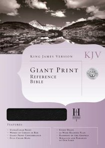 KJV Giant Print Reference Black Indexed (Red Letter Edition)