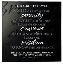 Plaque: Serenity Prayer, Philippians 4:13