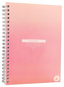 Spiral Notepad: Moleskin Style Pale Pink Triangle